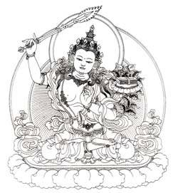 Line_drawing_manjushri