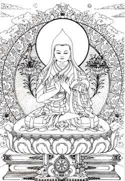 Line_drawing_tsongkhapa