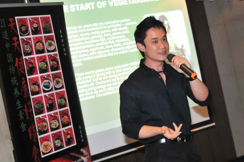 Nutritionist Mr Wong Yu Jin gave an excellent talk on the virtues of being vegetarian