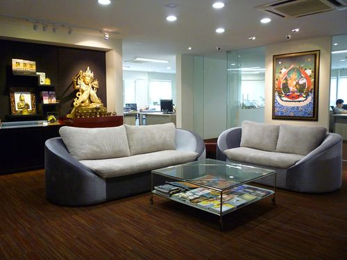 The-beautiful-reception-area-blessed-by-Manjushri-KMPs-patron-deity