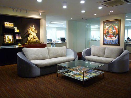 The-beautiful-reception-area-blessed-by-Manjushri-KMPs-patron-deity